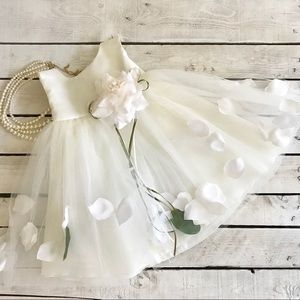 Other - Baby Flower Girl Tulle and Petals Dress.